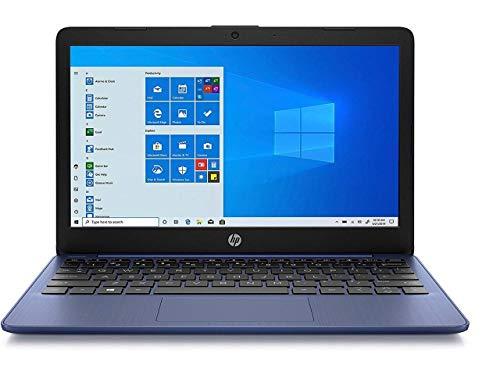 Newest HP Stream 11.6' HD(1366x768) Display, Intel Celeron N4020 Dual-Core Processor, 4GB RAM, 64GB eMMC, HDMI, WiFi, Webcam, Bluetooth, Win10 S, Metallic Blue (Renewed)