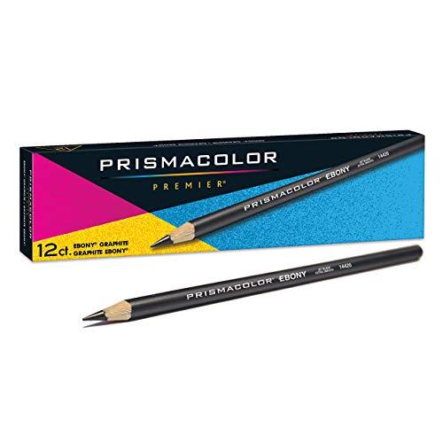 Design EBONY Sketching Pencil, Black Matte Barrel, Dozen