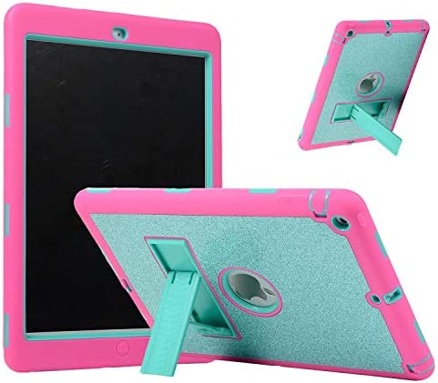 Uliking for Apple iPad Air 1 Case 2013 1st Gen 9 7 Glitter Three Layer Hybrid Shockproof Cover product image