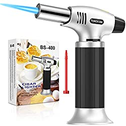 in budget affordable KIMILAR butane lighter, refillable kitchen torch, mini torch lamp …