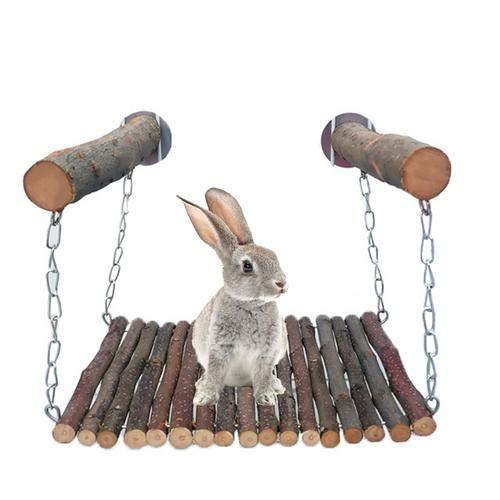 Holzstock Bett Spielzeug, Haustier Katze Eichhörnchen Kaninchen Biss Schaukel Und Klettern Holz AST Schaukel