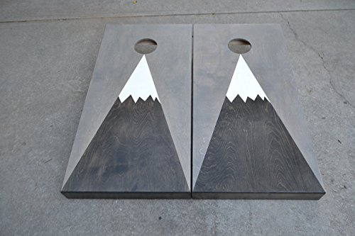 Mountain Stained Cornhole Boards Set with Bags