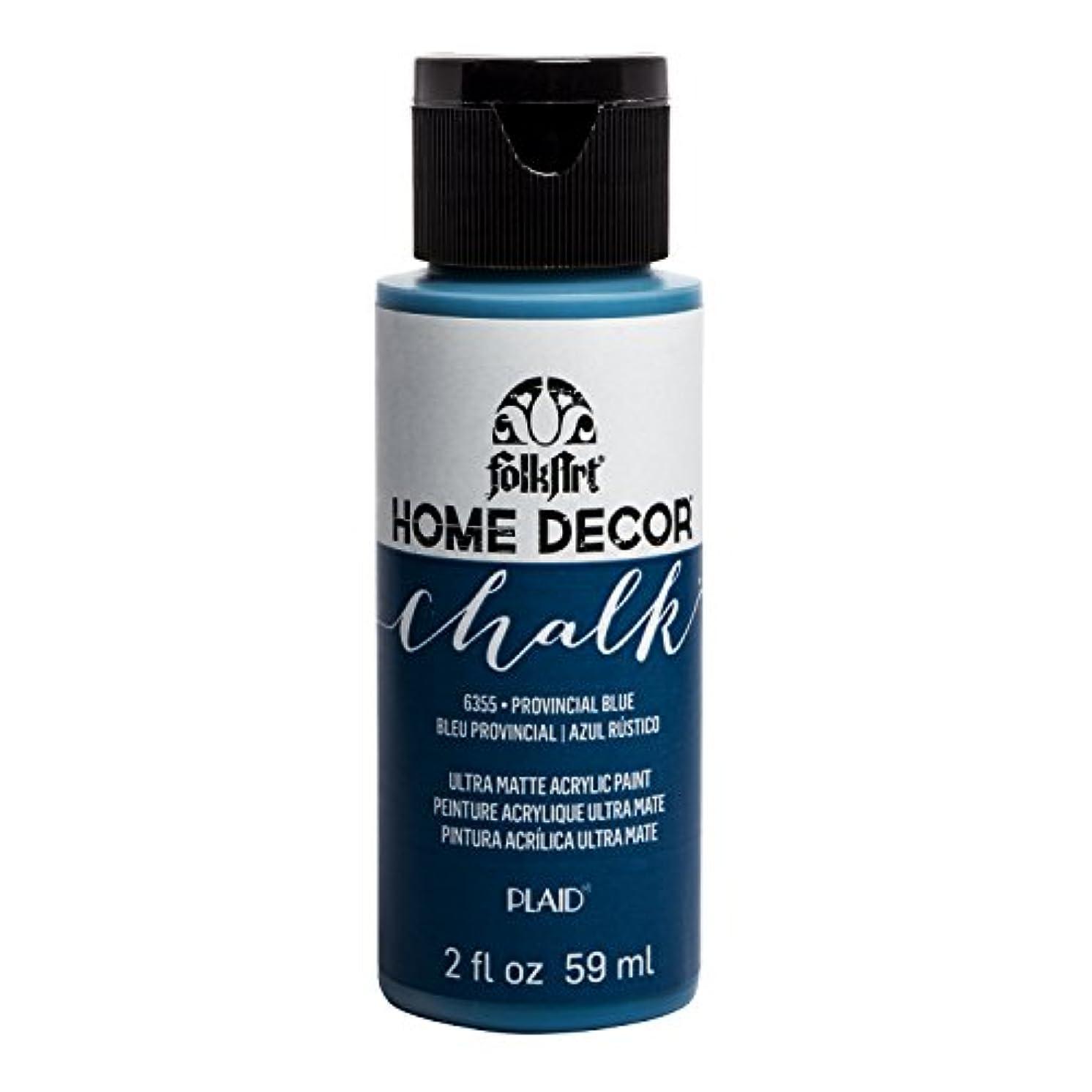FolkArt 6355 Home Décor Chalk Acrylic Paint, 2oz, Provincial Blue