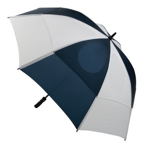 GustBuster Pro Series Extra Large Golf Umbrella Windproof 62-Inch with (Style 2)(Navy/White)