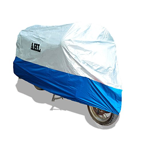 AHL Motocicletta Telo Coprimoto Impermeabile Antipolvere Anti UV Traspirante per Esterni Durante Tutto l'anno (Blu XL)