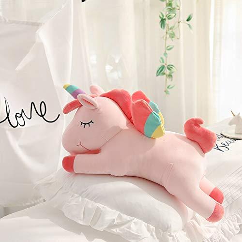 AYQX 40-100cm Gigante de Peluche de Unicornio acostado de Juguete Super Relleno Unicornio muñeca Almohada Cama decoración cojín Soporte para teléfono Regalo para niña Aproximadamente 78 cm Rosa
