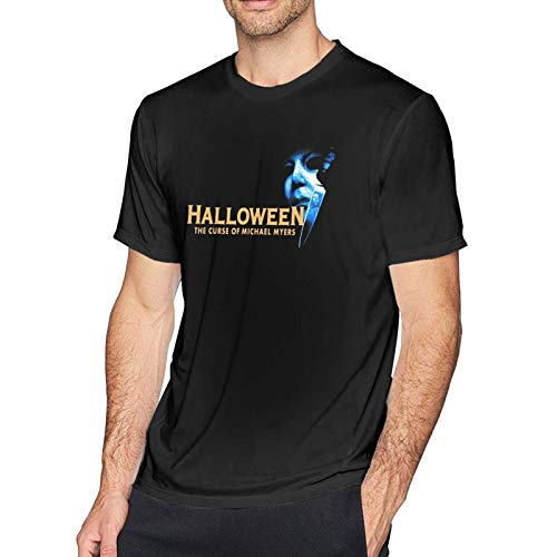 IUBBKI Camiseta básica de Manga Corta para Hombre Halloween The Curse of Michael Myers Men