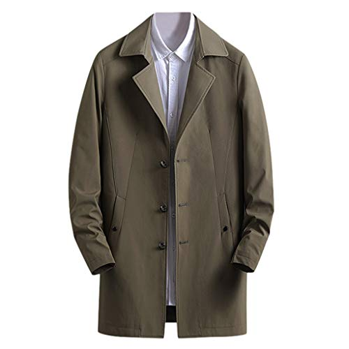 ღJiaMeng Herren Windjacke Herbst Winter Jacke Größe Casual Mode Übergangs Mantel Dick Warm Halten Im Freien Anzüge Sakkos