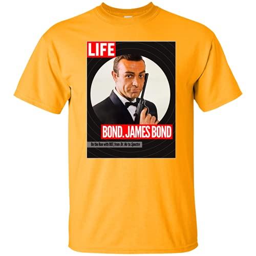 YUYAN James Bond, Sean Connery, Dr. No, Goldfinger, Thunderball, 007, Magazine, Banana Yellow S