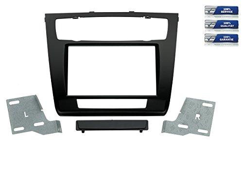 NIQ 2-DIN Radioblende für BMW 1er mit automatischer Klimaanlage Schwarz