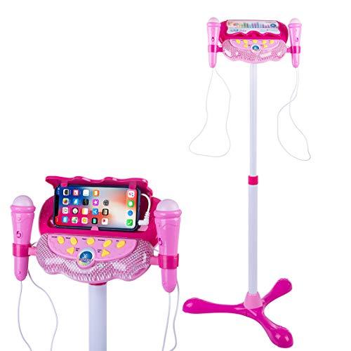 Polai Mikrofon Kinder mit Ständer Kinder Karaokemaschinen