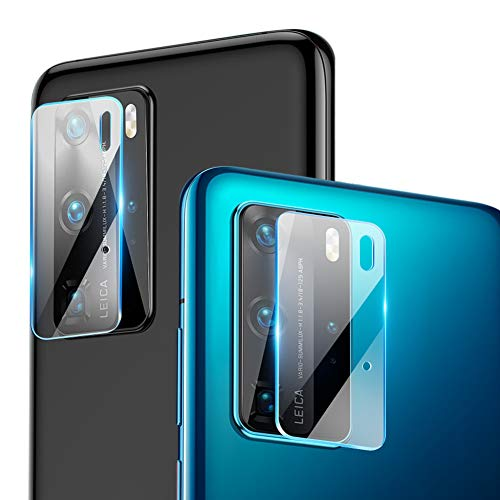 [2 Packs] Camera Lens Protector for Huawei P40 Pro [Shock-Resistant] OMYFILM Huawei P40 Pro Camera Lens Tempered Glass [High Transparency] Camera Glass Protector for Huawei P40 Pro