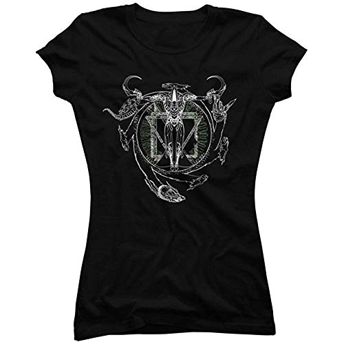 kjjhbgyugyt Mortus Centrum Solum Vita Juniors' Blackgraphic T Shirt (Size:XL