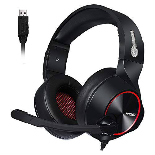 MOLINGXUAN Gaming Headsets, Gaming Headsets, PS4 Headsets, 7.1-Kanal RGB-Headsets, LED-Rauschunterdrückung und Lautstärke-Controlled Gaming Headsets für PC Laptops,C