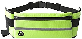 Nuoterm Fanny Pack Waist Bag for Unisex, Travel Waist Pack, Adjustable Belt, Waterproof Waist Pack, Multifunction, Ultra-Thin, Light, Suitable for Phones and Tablets up to 6.5 inches - Green