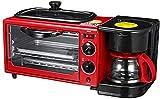 UYZ Máquina de Desayuno multifunción 3 en 1, cafetera, sartén, Horno, máquina para Hornear Pan, tostadora de Pan, Huevo Frito, cafetera, 1050 W