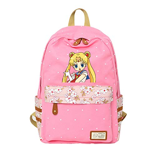 YOYOSHome Anime Cosplay Sailor Moon Rucksack Bookbag Daypack Schultertasche Schultasche, Rosa 3 (Pink) - yyyo3