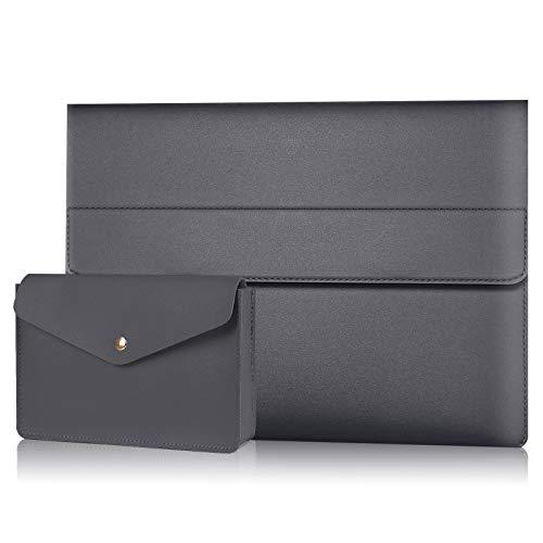 """Alfheim Custodia PC in PU Pelle 13-13,3 Pollici, Borsa Protettiva Sintetica Magnetica Sottile Impermeabile con Borsa Accessori, Compatibile con 13"""" MacBook Air 2010-2017, 13.3"""" MacBook PRO 2012-2015"""