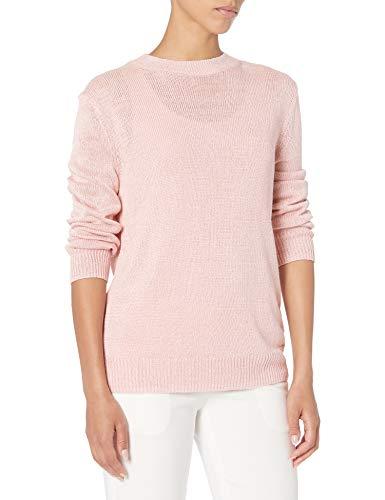 Theory Women's Long Sleeve Crewneck Sweater, Teal, M