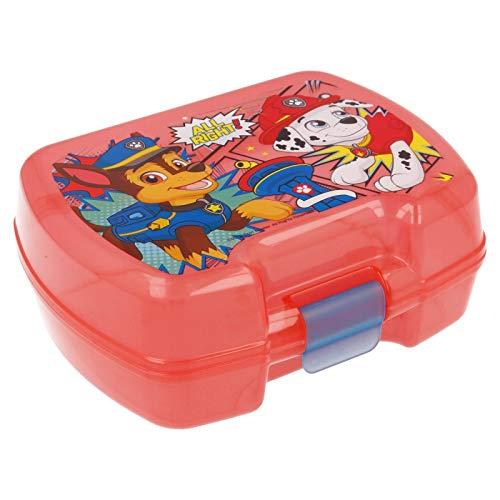 2660; Sandwichera rectangular multicolor premium Patrulla canina; Paw patrol; producto de plástico, Libre BPA;