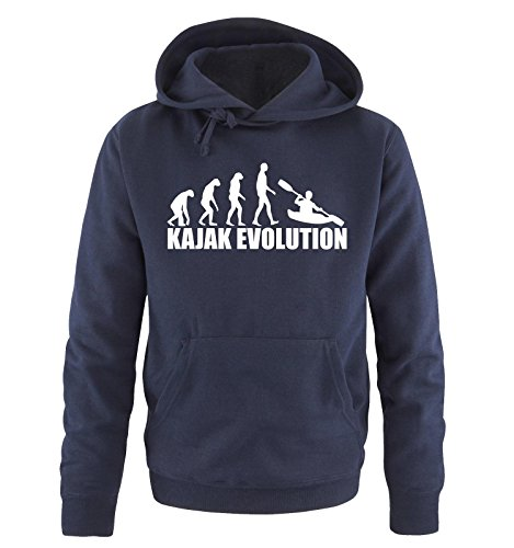 Comedy Shirts KAJAK Evolution Sweat à capuche pour homme - - XXL