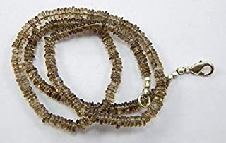 Jewel Beads Natural Beautiful jewellery 4 mm 17.5 '' Heishi Tyre Shape beads Natural Smoky Quartz Gemstone heishi Beads Strands necklaceCode:- JBB-22574