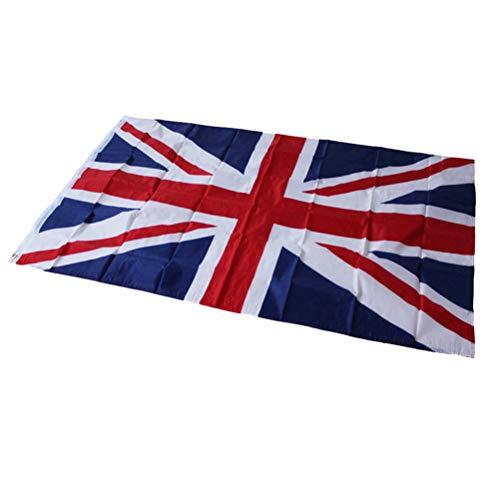 Amosfun Großbritannien-Flagge BRITISCHE Staatsflagge für Geschichtsfeier-Ereignis-Dekoration