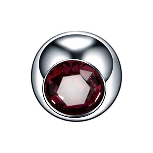 HLWJ Hundido 10pcs Titanio Cristal reemplazo Bola 16G 14G de la Nariz del Labio Pendientes del pezón de la ceja del Vientre Anillos de la Lengua Piercings Accesorios Bola Pendientes for Las Mujeres