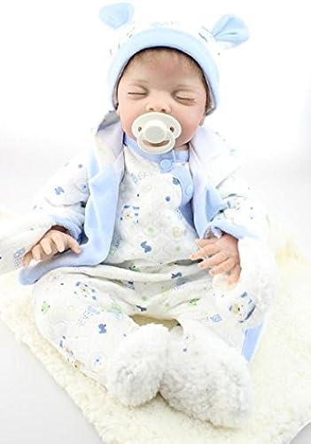 QXMEI 20-Zoll Reborn Babypuppe Weißhes Silikon Puppe Simulierte Geburt Baby Puppe Kostüm Modell 50 cm