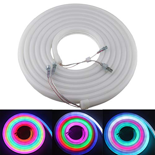 Tira de luces LED de neón de 5 m WS2811 300 LED de 12 V CC direccionable, color de sueño, programable digital para bricolaje interior...