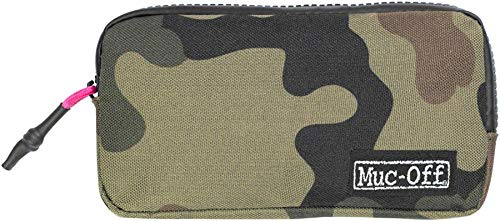 Muc-Off Essentials Case - Tough 900D Polyester Camo Fabric Storage Pouch with Zip - Ideal for Storing Spare Inner Tubes, Tyre Levers, Keys and Phone