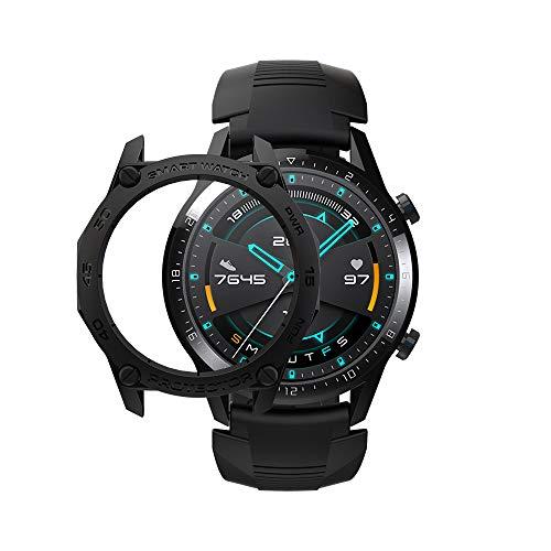 SIKAI – Capa amortecedora para relógio Huawei Watch GT 2. 46 mm, Smart Watch, anti-arranhões, à prova de choque, capa protetora, de TPU, para Huawei Watch GT2 2019, ultra leve, várias cores