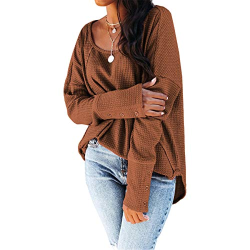 Camiseta De Manga Larga con Cuello Redondo Y Cuello Redondo para Mujer De Primavera Y Verano para Mujer