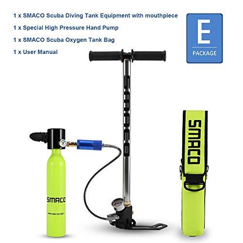 SMACO Flasche Tauchausrüstung, tragbarer 0,5-l-Mini-Sauerstofftank für Tauchgänge (S300-E)
