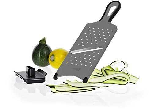 Lurch 220298 Gemüsehobel mit Restehalter / Fingerschutz, Schnittstärke ca. 1,5 mm, aus Kunststoff und Edelstahl