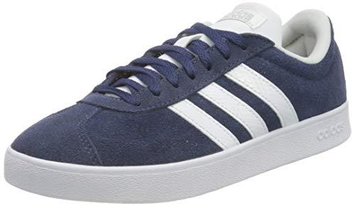 adidas Damen VL Court 2.0 Sneaker, Tech Indigo/Cloud White/Matte Silver, 39 1/3 EU