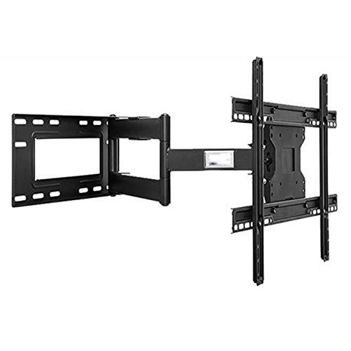 Soporte de montaje en pared para TV inclinable para televisores de pantalla plana de 26 a 55 pulgadas,ultradelgado,fácil de instalar con perilla inclinable,hasta VESA 600x400 mm y 150LBS (70in,Black)