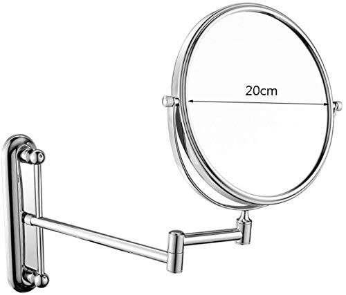 Wand Kosmetik- / Kosmetikspiegel, Spiegel 7 Vergrößerungsglas 360 ist drehbar einziehbarer shaving Badspiegel im Schlafzimmer oder im Badezimmer,Silver