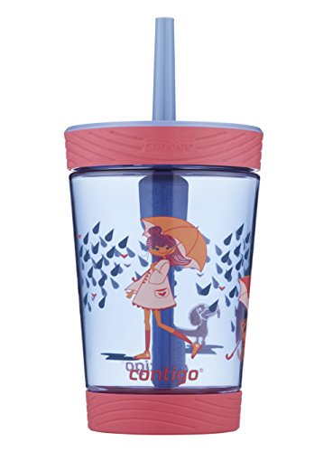 Contigo 2076763 Spill-Proof Kids Tumbler, 14 oz, Cats/Dogs, 1 Count (Pack of 1), Wink with Raining Cats & Dogs