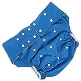 Hemoton Couches lavables pour adultes et personnes handicapées Bleu