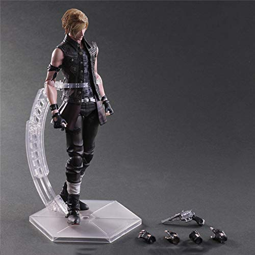 DTZW Play Arts Kai Final Fantasy 15: Bruderschaft Prompto Argentum Action-Figur Kinder Spielzeug Modell Anime Statue Dekoration 25CM