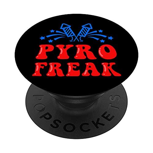 Pyro Freak Explosión Petardo Pirotécnico Fuegos Artificiales PopSockets PopGrip: Agarre intercambiable para Teléfonos y Tabletas