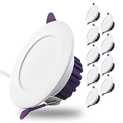 Pocketman 5W dimmable LED Downlights, 10 Pack lámpara de techo regulable a través del interruptor para la iluminación de decoración interior 3 Colores Variación