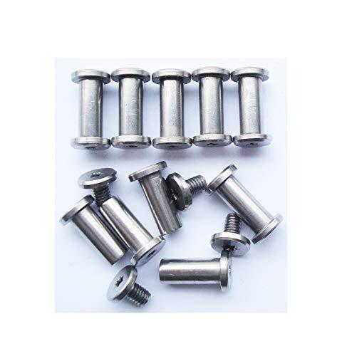 Pernos Corby de navaja de bolsillo, pasadores de pivote de cuchillos plegables, cuchillos EDC remaches de tornillos, remaches de mango de cuchillo de bricolaje, paquete de 10 (12mm)