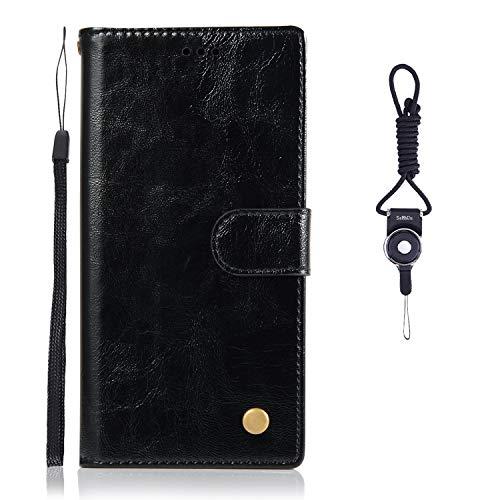 SsHhUu Asus Zenfone 4 Selfie ZD553KL Hülle, Echt PU Leder Hülle Kartenfach Standfunktion Magnet Ledertasche mit Schlaufenclip + Schlüsselband für Asus Zenfone 4 Selfie ZD553KL (5.5
