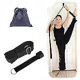 Hossom Correa de Yoga, Entrenador de flexibilidad de la Puerta, Correa de Estiramiento de piernas Ajustable, Cinta elástica para la Pierna de Estiramientopara Entrenamiento para Ballet, Baile