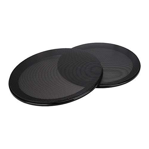 2 stuks 8 inch Luidsprekerhoezen Luidsprekers/Kleine luidsprekers/Autoluidsprekers Luidspreker Mesh Cover Beschermhoes Decoratie Koudgewalst staal + ABS (zwart + zwart)