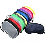 MANSHU 24 Pieces Eye Mask Shade Cover Blindfold Travel Sleep Eye Masks with Nose Pad for Travel Sleep or Party Supplies Game.(12 Colors)