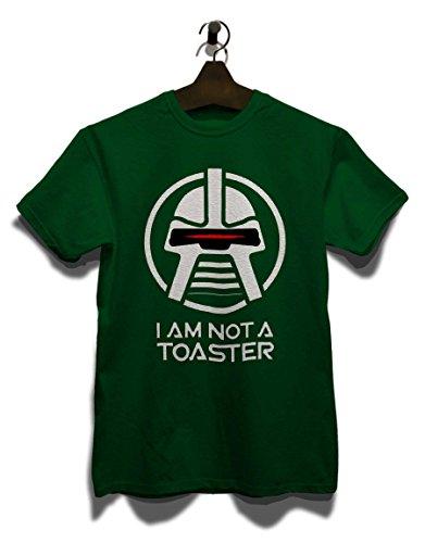 Cylon I Am Not A Toaster T-Shirt Dunkelgruen XL