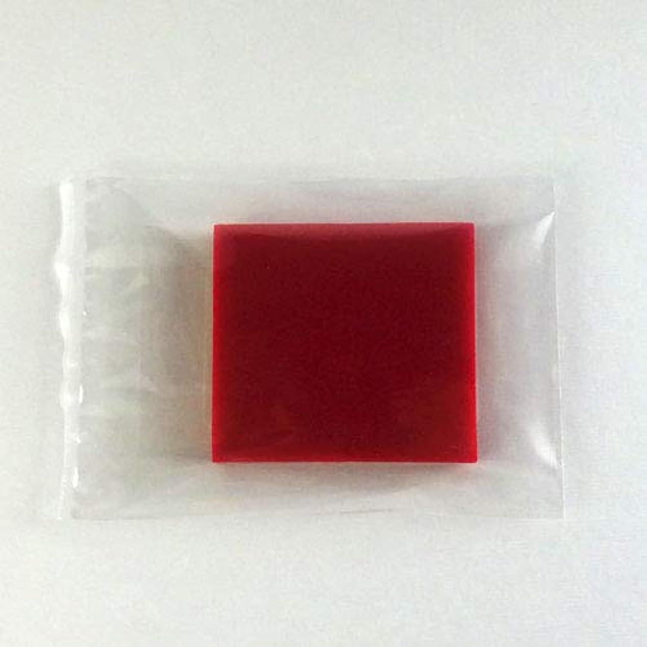 不適裁判所箱グリセリンソープ MPソープ 色チップ 赤(レッド) 120g(30g x 4pc)